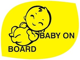 ARWY car stickers exterior Baby On Board, Baby Logo, Windows, Car Sticker (Pack of 2 Stickers)