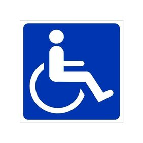 ARWY Handicapped Sign Sticker (Pack of2)