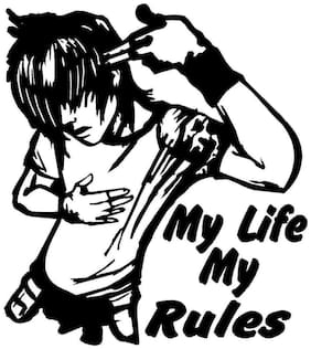 ARWY My Life My Rule Vinyl Die Cut Decals/ Bumper Stickers For Windows, Cars, Trucks, Laptops, Etc.