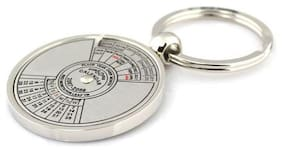 Aryshaa 50 Years Calender Date Month Year Day Time Compass Keychain Keyring Collectible (Pack of 1)