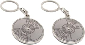 Aryshaa Compass Date Perpetual with Calendar up-to 50 Years Key Ring Key chain Metal (Pack of 2)