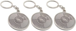 Aryshaa Compass Date Perpetual with Calendar up-to 50 Years Key Ring Key chain Metal (Pack of 3)