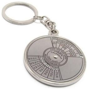 Aryshaa Compass Date Perpetual with Calendar up-to 50 Years Key Ring Key chain metal (pack of 1)