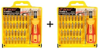 Aryshaa Jackly 32 in 1 Tool Kit Interchangeable Precise Screwdriver Tool Set with Magnetic Holder (Pack of 2)