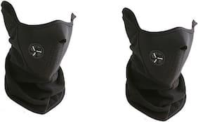 Aryshaa Neoprene Half Face Bike Riding Mask Black-(Pack Of 2)