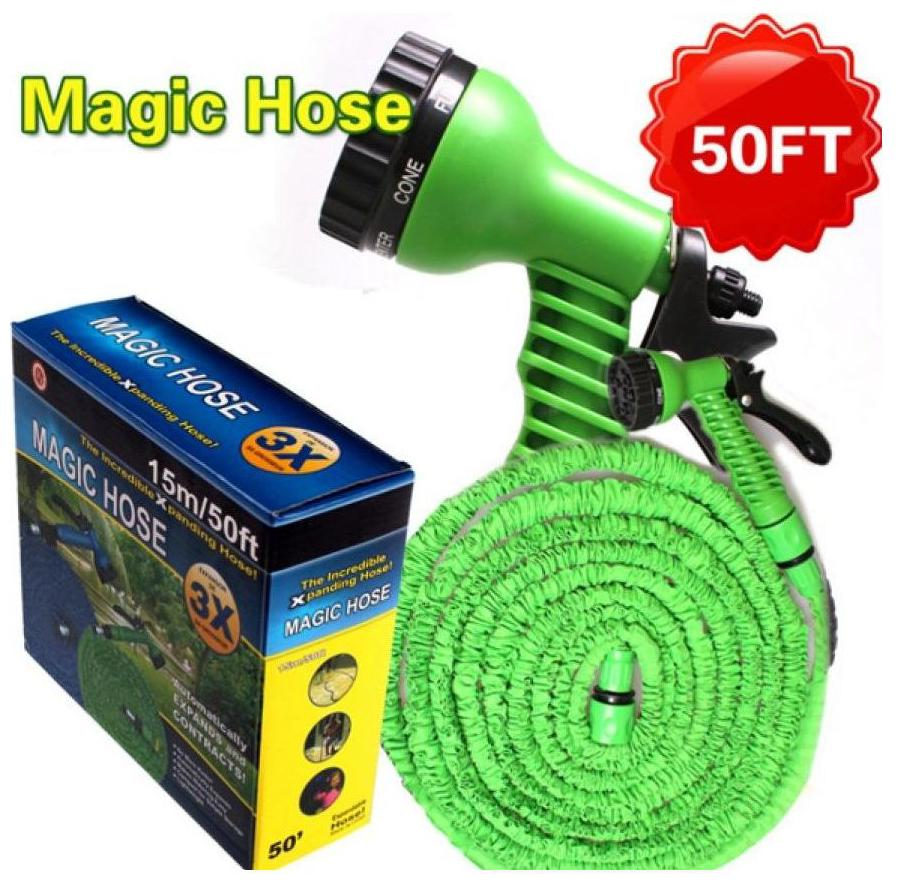 As Seen On Tv New Garden Water Hoses Expanding Irrigation Magic Hose Water Pipe + Nozzle 15M