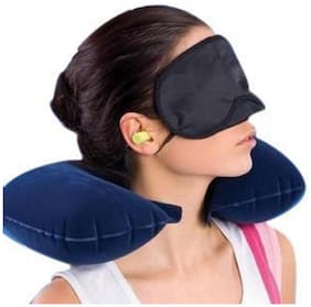 Ascension 3 In 1 Air Travel Kit Combo -Pillow Ear Buds & Eye Mask(Assorted)