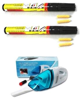 Asha 12V Dc Car Vacuum Cleaner With Heavy Duty Scratch Pen