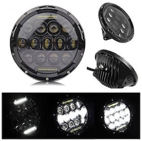 Aucbe Mart 7inch Round Ring 13 LED Headlight with Turn Signal Lights for Royal enfeild Bike for Jeep Wrangler (Pack of 1)