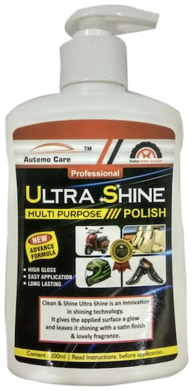 AUTEMOCARE;All in One Ultra Shine for CAR and Bike Interior and Exterior;200ML Pack