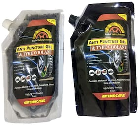 Autemocare Fiber Anti Puncture Gel and Tyre Coolant (Multi)
