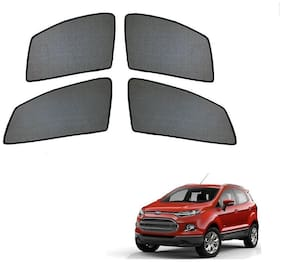 Auto Addict Half Magnetic Car Sunshades Curtain For Ford Ecosport (Black)