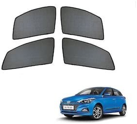 Auto Addict Half Magnetic Car Sunshades Curtain For Hyundai Elite i20 (Black)