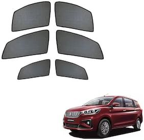 Auto Addict Half Magnetic Car Sunshades Curtain For Maruti Suzuki Ertiga New 2019 (Black)