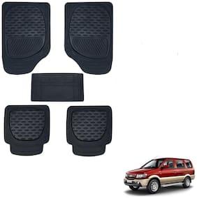 Auto Addict Car 6255 TW Rubber PVC Heavy Mats Black Color Set Of 5 pcs For Chevrolet Tavera