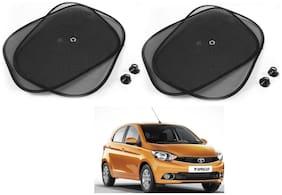 Auto Addict Car Suction Sunshades Chipkoo Black Set of 4 Pcs For Tata Tiago