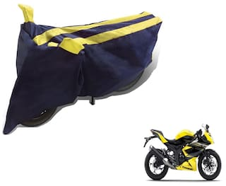 Buy Auto Hub Black Yellow Bike Body Cover For Kawasaki Ninja Online