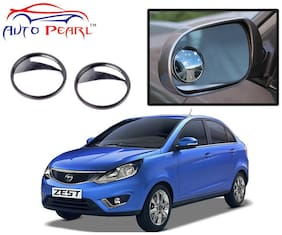 Auto Pearl 2 Wide Angle Convex Rear Side View Blind Spot Car Mirror For Tata Zest