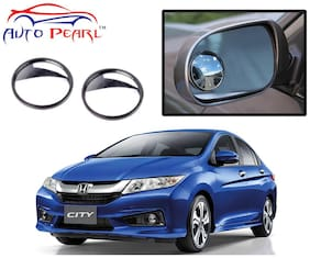 Auto Pearl 2 Wide Angle Convex Rear Side View Blind Spot Car Mirror For Honda City New