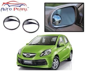 Auto Pearl 2 Wide Angle Convex Rear Side View Blind Spot Car Mirror For Honda Brio