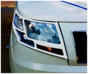 Auto Pearl Car Chrome Head Light Cover For Mahindra TUV 300