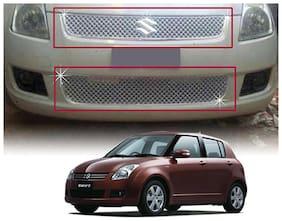 Auto Pearl - Premium Quality Car Chrome Front Grill For - Maruti Suzuki Swift 2009