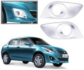 Auto Pearl-Premium Quality Chrome Plated Fog Lamp Cover For -Maruti Suzuki Swift Dzire 2012