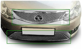 Auto Pearl - Premium Quality Car Chrome Front Grill For - Tata Zest