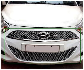 Auto Pearl Premium Quality Car Chrome Front Grill For Hyundai I10 (Upper & Lower)