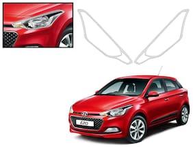 Auto Pearl-Premium Quality Chrome Plated Head Light Cover For-Hyundai I20 Elite