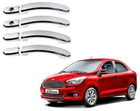 Auto Pearl-Premium Quality Chrome Plated Handle Cover For-Ford Figo Aspire