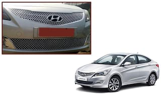 Auto Pearl - Premium Quality Car Chrome Front Grill For - Hyndai Verna Fluidic 4S