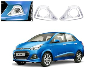 Auto Pearl-Premium Quality Chrome Plated Fog Lamp Cover For -Hyundai Xcent