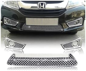 Auto Pearl Premium Quality Car Chrome Front Grill For Honda City Idtec