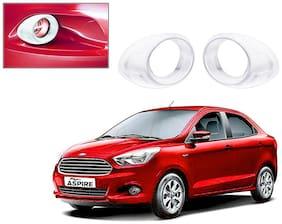Auto Pearl-Premium Quality Chrome Plated Fog Lamp Cover For -Ford Figo Aspire