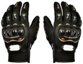 Auto Pearl -PRO-BIKER MCS-01A Skid-Proof Full Finger Motorcycle Racing Gloves - Black (Pair / XXL-Size)
