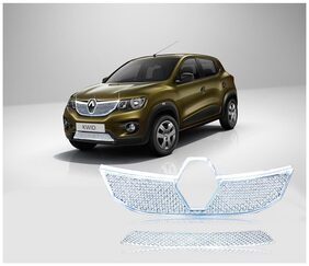 Auto Pearl Premium Quality Car Chrome Front Grill For Renault Kwid 2015