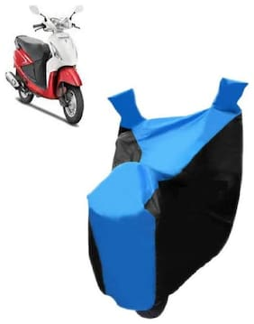 AutoAge Blue with Black Two Wheeler Cover For  Pleasure Hero