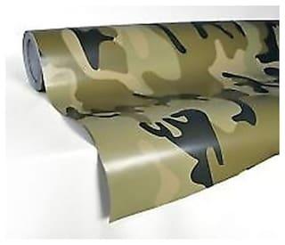 AutoBizarre 24x24 inch 3D Military Carbon Fiber Vinyl Car Wrap Sheet Roll Film Sticker Decal For Car & Bike Both