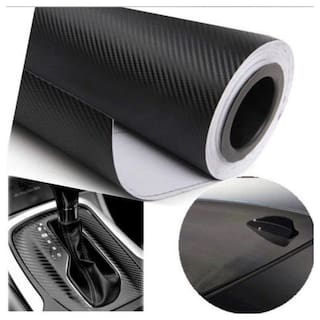 AutoBizarre 24x50 inch 3D Black Carbon Fiber Vinyl Car Wrap Sheet Roll Film Sticker Decal For Car & Bike Both