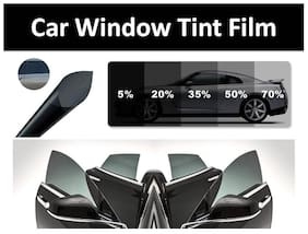 AutoBizarre 20x200 Inches Car Window Tint Film in Charcoal Black Shade with 50 Percent Visbility