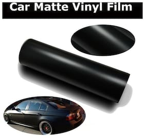 AutoBizarre 12x24 inch Matte Black Vinyl Car Wrap Sheet Roll Film Sticker Decal For Car & Bike Both