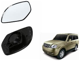 Autofetch Car Rear View Side Mirror Glass RIGHT for Tata Sumo Grande Black