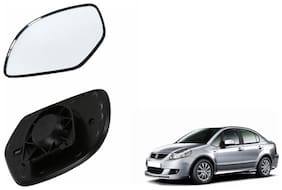 Autofetch Car Rear View Side Mirror Glass RIGHT for Maruti SX4 Black