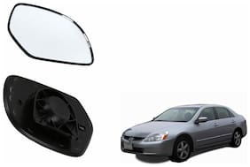 Autofetch Car Rear View Side Mirror Glass LEFT for Honda Accord 2.4 Type 2 (2007-2009) Black
