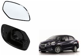 Autofetch Car Rear View Side Mirror Glass LEFT for Honda Amaze Old Black