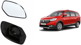 Autofetch Car Rear View Side Mirror Glass RIGHT for Renault Lodgy Black
