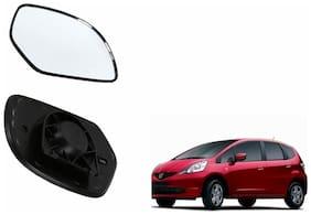 Autofetch Car Rear View Side Mirror Glass LEFT for Honda Jazz Type 1 (2009-2010) Black