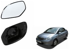 Autofetch Car Rear View Side Mirror Glass RIGHT for Honda City Type 3 (2005-2008) Black