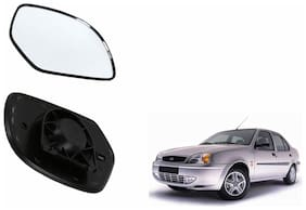 Autofetch Car Rear View Side Mirror Glass RIGHT for Ford Ikon Black